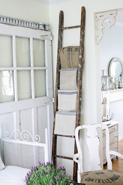 old white doors, white decor