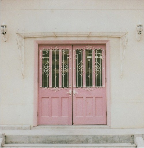 beautiful old pink doors