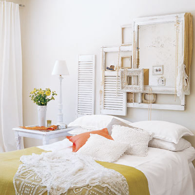 creative bedroom headboard, white homes