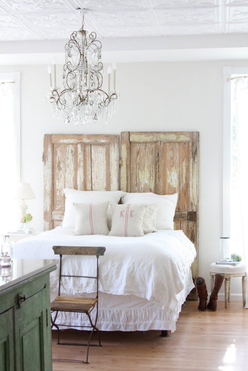pretty bedheads, door bedhead, dreamy whites