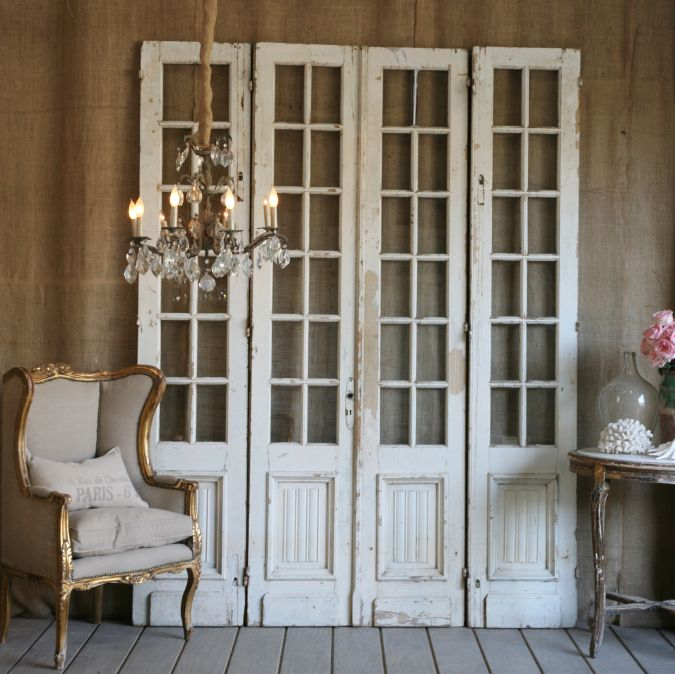Pretty spaces home decor inspiration for Antique door decoration