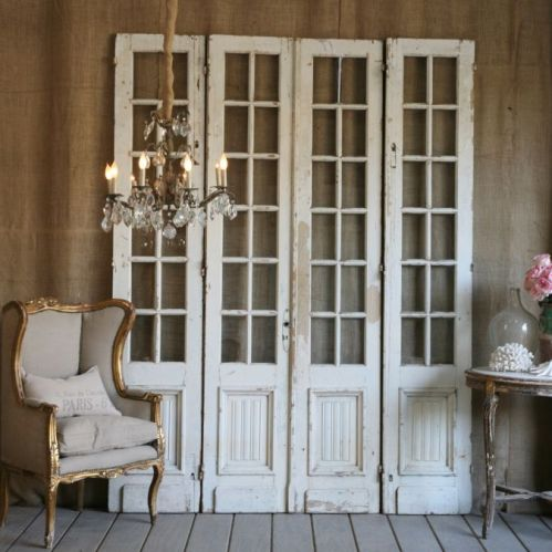 old vintage white doors