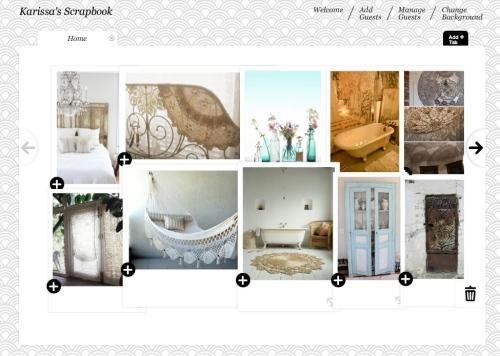 home decor moodboard, online moodboard, online scrapbook, collage, moodboard